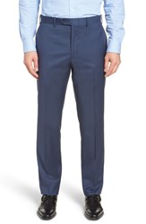 John W. Nordstrom Big And Tall Torino Traditional Fit Flat Front Solid Trousers French Blue