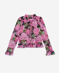 The Kooples Floral Printed Frilly Shirt
