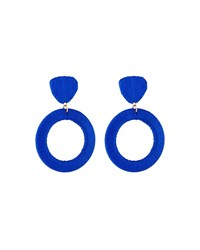 Lydell Nyc Wrapped Drop Earrings Blue