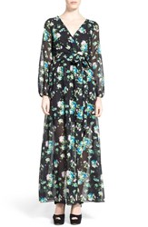 Women's Dirty Ballerina Long Sleeve Maxi Dress Black Floral