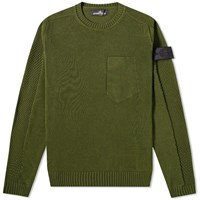 Stone Island Shadow Project Ultra Twisted Crew Knit Green