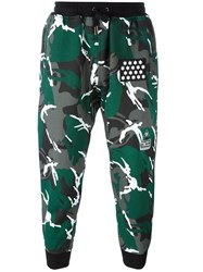 Ktz Camouflage Tapered Trousers Green