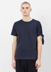 J.W.Anderson Jw Anderson 'S Single Knot T Shirt In Navy Size Xs 100 Cotton