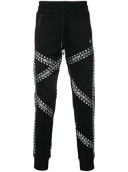 Philipp Plein Caution Track Pants Black