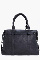 Boohoo Pu Weekend Holdall Black