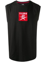 Plein Sport Embroidered Patch Tank Top Black