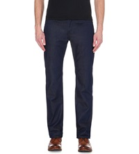 Ted Baker Original Fit Straight Jeans Rinse Denim