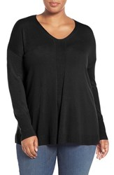 Sejour Plus Size Women's V Neck Sweater