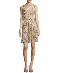 Jason Wu Floral Print Chiffon Scoop Back Dress Blush Light Pink