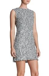 Women's Dress The Population 'Amber' Sequin A Line Dress White Black