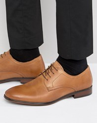Red Tape Lace Up Smart Shoes In Tan Leather