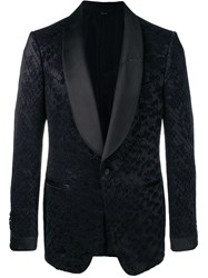 Tom Ford Scale Effect Suit Jacket Black