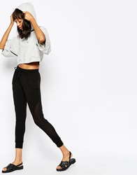 Lna Short Trousers With Cut Out Detail Black