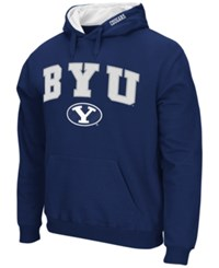 Colosseum Men's Byu Cougars Arch Logo Hoodie Navy
