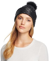 Ugg Quilted Hat With Pom Pom Black