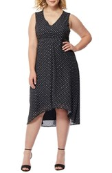 Rebel Wilson X Angels Plus Size Women's Print High Low Dress