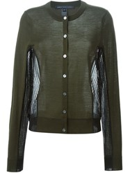 Marc By Marc Jacobs Contrast Panel Cardigan Green