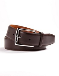 Lauren Ralph Lauren Leather Dress Belt Brown