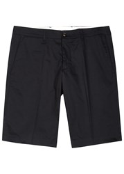 Moncler Navy Stretch Cotton Shorts