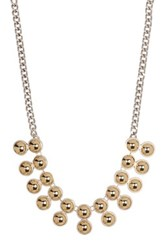 Kenneth Cole Two Tone Double Row Necklace Multi