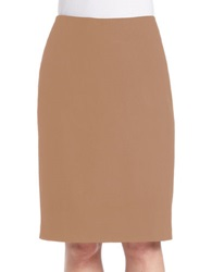 Lord And Taylor Petite Brushed Melton Solid Pencil Skirt Ginger Heather