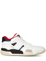 Versace Ginobli Leather Sneakers White