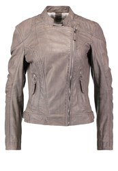 Gipsy Leather Jacket Grey