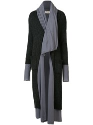 Sabine Luise Two Layers Long Coat Grey