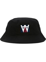 Wood Wood Embroidered Logo Hat Black