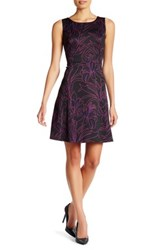 Nine West Printed Fit And Flare Dress Multi