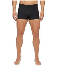 Nike Surge Color Block Poly Square Leg Brief Black Men's Swimwear