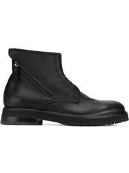 Bruno Bordese Zip Detail Lace Up Boots Black