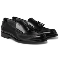 Tod's Polished Leather Tasselled Loafers Black