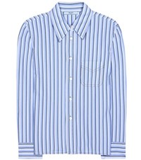 Prada Cotton Shirt Blue