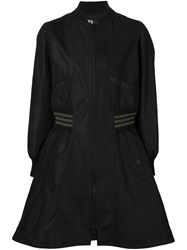 Y 3 Flared Bomber Jacket Black