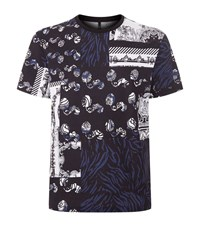 Versus By Versace Greek Patch Work T Shirt Male Navy