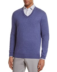 Bloomingdale's The Men's Store At V Neck Cotton Cashmere Sweater Perfect Blue
