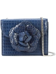 Oscar De La Renta Mini Tro Crossbody Bag Blue