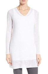 Eileen Fisher Women's Slubbed Organic Linen And Cotton Tunic White