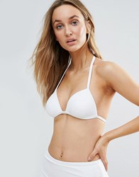 New Look Mix And Match Moulded Triangle Bikini Top White
