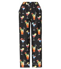 Dolce And Gabbana Printed Silk Trousers Multicoloured