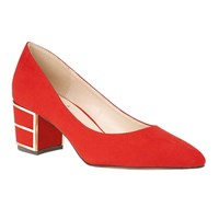 Lotus Mercy Block Heel Courts Red