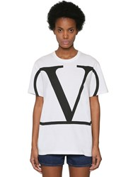 Valentino Vlogo Printed Cotton Jersey T Shirt Array 0X57bed60