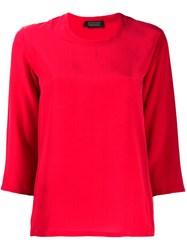 Gianluca Capannolo 3 4 Sleeve Blouse Red
