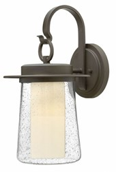 Hinkley Riley Wall Light 2014 Medium 10 In D Oz Gu24 Oil Rubbed Bronze Compact Fluorescent Black