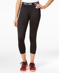 Energie Active Juniors' Cropped Capris Caviar