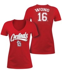 5Th And Ocean Women's Kolten Wong St. Louis Cardinals Foil Player T Shirt Red