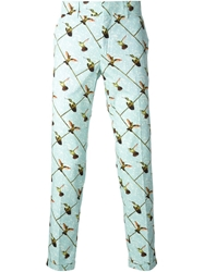 Stella Jean Bird Print Trousers Multicolour