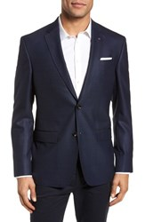 Ted Baker 'S London Jed Trim Fit Wool Blazer Navy