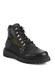 Moncler Leather Winter Boots Charcoal